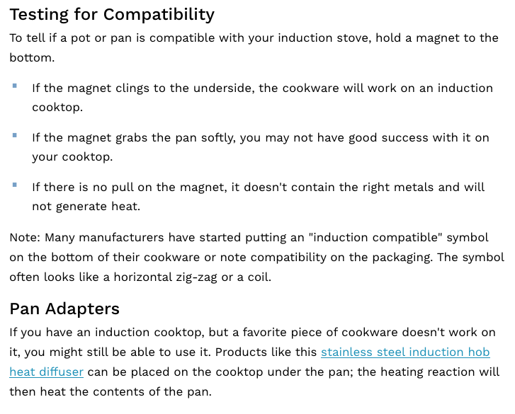 Induction Compatibility